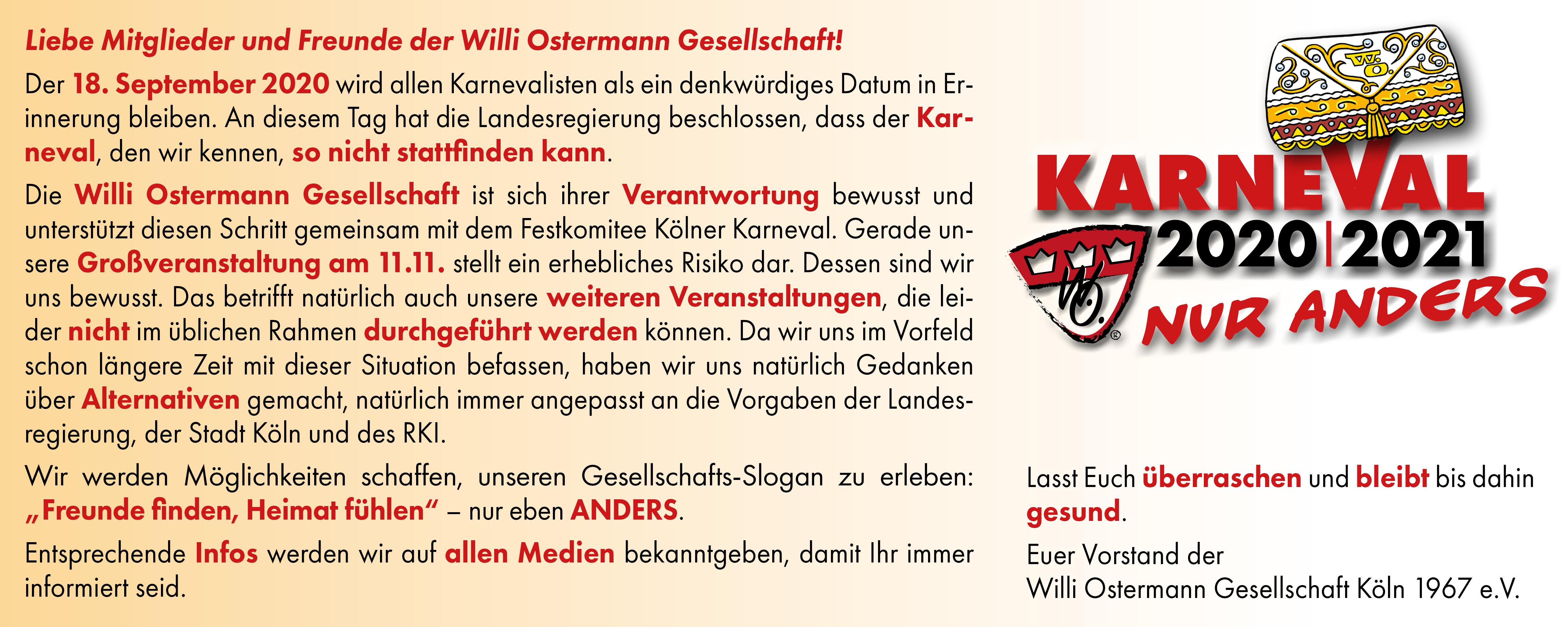 Sartory Köln Karneval 2021