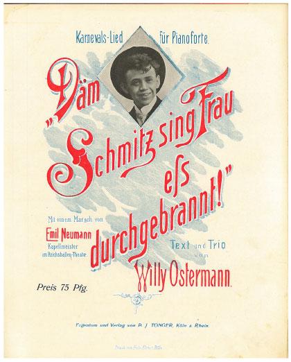 Däm Schmitz sing Frau eß durchgebrannt!