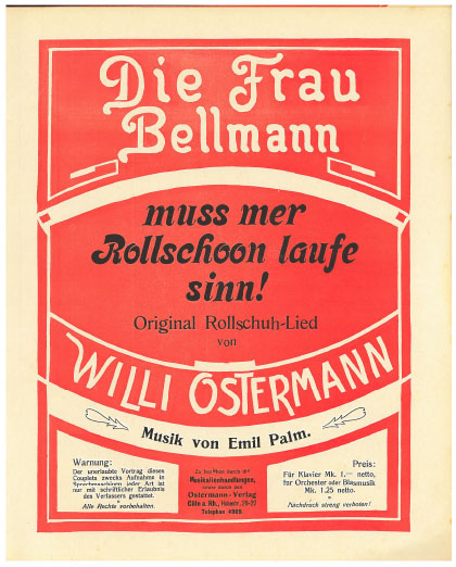 De Frau Bellmann muß mer Rollschohn laufe sinn
